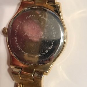 Kenneth Cole Accessories - Kenneth Cole Mother of Pearl Rhinestone Gold Watch